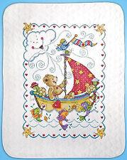 Cross Stitch Kit ~ Tobin Sail Away Teddy Bear & Cute Sea Life Baby Quilt #T21770