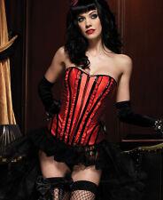 Leg Avenue Red Satin Corset, Boned Corset, Burlesque Sexy Corset, Rockabilly