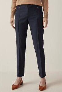 NWT Trenery navy Flannel Zip Pocket Pant sizes 12 & 14