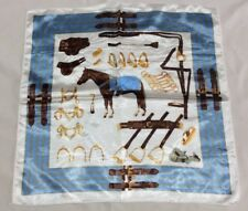Ladies SILK BLEND SCARF Horse Country Equestrian VINTAGE STYLE Square Aintree