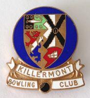 Killermont Bowling Club Badge Pin Rare Vintage UK (M19)
