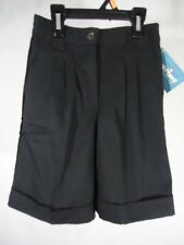 New Moves Girl's Pleated Casual/Uniform Shorts (Elastic Waist) - Size 7 - Black