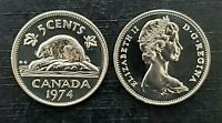 Canada 1974 Specimen Gem UNC Five Cent Nickel!!