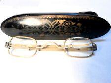 CIVIL WAR BRASS GLASSES: 1860's  IN A LACQUERED PAPIER MACHE CASE!
