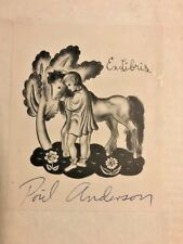 SIGNED MATH TEXTBOOK OWNED BY POHL ANDERSON SIGNED ON BOOKPLATE