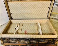 Vintage Steamer Trunk Flat Top Divider Tray All Original. Not Restored