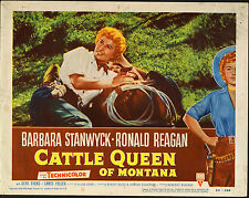 CATTLE QUEEN OF MONTANA original lobby card 1954 movie poster BARBARA STANWYCK