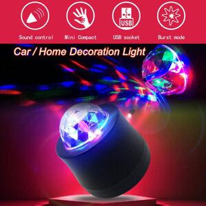 USB Car Party Music Rhythm Sound Disco DJ Stage LED Light Crystal RGB Ball Lamp