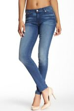 Seven 7 For All Mankind GWENEVERE Mid-Rise Skinny Jeans Washed Red Cast Blue 27