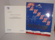 NY Rangers #2 Brian Leetch ~ Autographed Book by John Halligan w/ COA