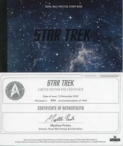 GB 2020 Star Trek TV Series Ltd Edn Prestige Booklet (worth £75) 3D COA, LOOK!