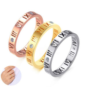 Gold//Silver Heart Shape For Lover Titanium Steel Ring Women Fashion Jewelry LG