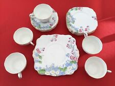 ROYAL STANDARD BONE CHINA TEA SET WILDFLOWER GOLD RIMED