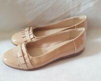 CLARKS Feya Island Nude Pink Patent Shoe - Women - UK size 6D -NWOT