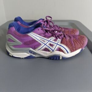 Asics Gel Resolution 5 Women's Size 7 Tennis Shoes Purple/White Athletic Sneaker