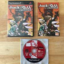 Dot Hack .hack G.U. Vol. 1 Rebirth Sony Playstation 2 PS2 System Complete Game