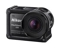 Nikon Waterproof Wearable Camera KeyMission 170 Black 4K Wifi And accessories