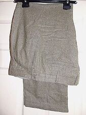 GUABELLO @ ST. MORITZ WOOL & CASHMERE ELEGANT TAILORED OLIVE TROUSERS W36 L29
