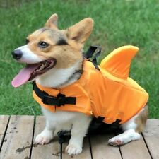 Dogs Life Jacket W/ Shark Fin Safety Life Vest Pets Summer Swimming Clothes