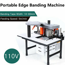 New listing Woodworking Edge Banding Machine Portable 0.3-3mm Thick Bevel 10-60mm Width