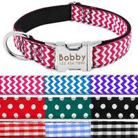 Personalised Dog Collar Heavy Duty Buckle Dog Puppy Collar Tag Custom Engraved