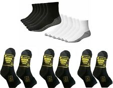 24,12,6 Pairs Mens Industrial Quarter Boot Work Socks Thick Heavy Duty 6-11 lot