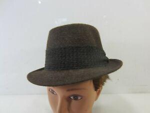 Vintage Stetson Royal DeLuxe Brown Men's Fedora Hat Size 6 7/8