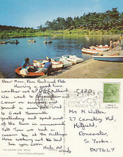 1980 THE BOATING LAKE WELLS NORFOLK COLOUR POSTCARD