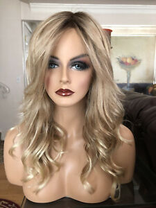 AMBER LACE FRONT WIG BY JON RENAU- SHADED SUN Large Cap