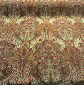 Swavelle Damask Joppa Prestige Brown Fabric by the yard