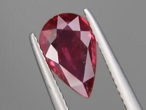 Natural Big Ruby 2.14ct 11x7mm Loose Gemstone Pear Cut Beautiful Color & Clarity