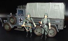 1:18 WWII German Cargo Truck Carrier Mercedes Benz LG63 w Machine Gunner Figures