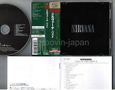 NIRVANA Nirvana(Best) JAPAN SHM-CD UICY-90832 w/OBI+BOOKLET Free S&H/P&P