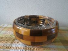 More details for vintage cambridgeware 1950s bowl with cut glass liner