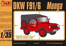 "CMK 1/35 DKW F91/6 Munga ""NATO Staff Car"" (Post War Bundeswehr Staff Car) RA044"