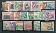 Dominica QEII 1954-62 definitive set of 19 SG140/58 MNH