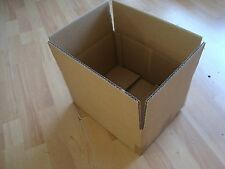 40 x BROWN DOUBLE WALL CARDBOARD BOXES 31CM x 24CM x 17CM *BRAND NEW* (ref 100)