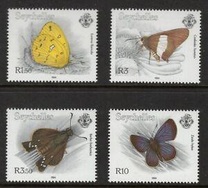 Seychelles 1994 Butterfly Schmetterlinge Eurema Coeliades Borbo Zizula hylax