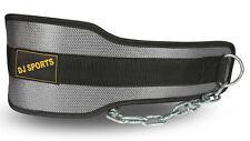 Dip Gürtel aus Nylon in grau | Fitness Dipgürtel Trainingsgürtel mit 80cm Länge