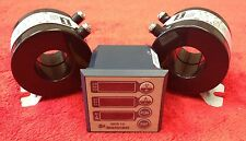 Single Phase Meter for Amperage, Voltage, Frequency, Hours With two 100 AMP CTs