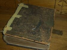 Antique 1859 Bible w/ Family History - James McGaw & Alexander Rutherford