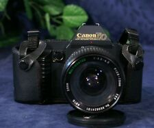 Nice Black CANON T70 SLR Body with Sears 28 - 70 mm f3.5-4.5 Zoom Lens & Case