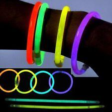 """300 pcs 8"""" Multi Color Glow Stick Bracelet Necklace Party Bag Fillers Supply Lot"""