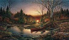 Terry Redlin Morning Solitude Canvas Camping/Canoe