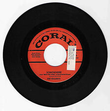 DOO WOP 45 THE ESCORTS SOMEWHERE ON CORAL VG+ ORIGINAL