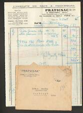 """PARIS (XI°) USINE de SACS à PROVISIONS """"PRATICSAC / G. DESCHAMPS"""" en 1945"""