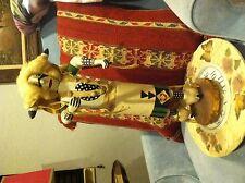 "Hopi Kachina Doll HOPI ""White Buffalo"" Artist Signed Vintage 18.5"" native"