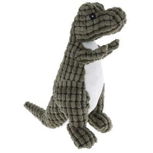 Forme de dinosaure Pet Dog Chew Toy Squeaker Squeaker Jouets Fournitures de