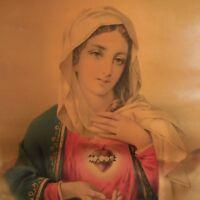Reproducción Impresión Religión Cristianismo Santa Virgen Siglo XVIII Francia