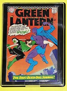 "🔥DC (1966) GREEN LANTERN #44 - ""Evil Stars Death-Duel Summons!"" 👀🤯😱W/Frame"
